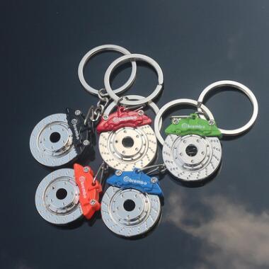 Otomobil Fren Diski Fren Pad Anahtarlık Anahtarlık Araba Oto Moda Aksesuarları Çanta Asmak 6 Renkler