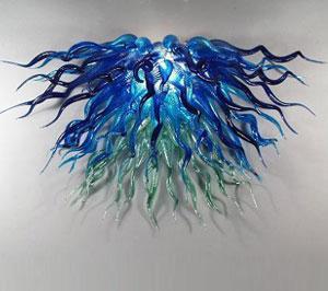 Livraison Gratuite AC Led Ampoules 110v / 240v Élégant Fleur Lustre Coloré Tiffany Moderne Design Lampe De Verre
