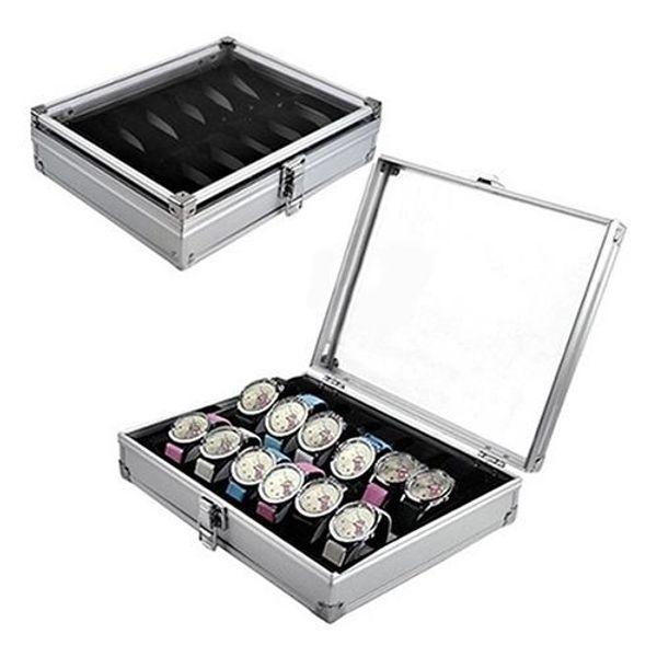 2018 High Quality Metal 6/12 Grid Slots Wrist Watch Display Box Storage Holder Organizer Watch Case Jewelry Dispay Box