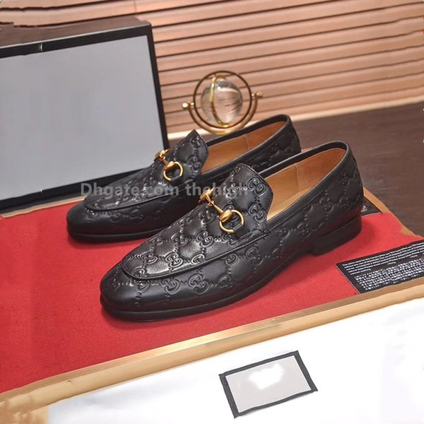 2019 Tasarımcı Marka klasik Siyah Glitter Hakiki deri Alt Loafer'lar Ayakkabı Düğün Erkek Beyler Elbise iş Oxford Ayakkabı