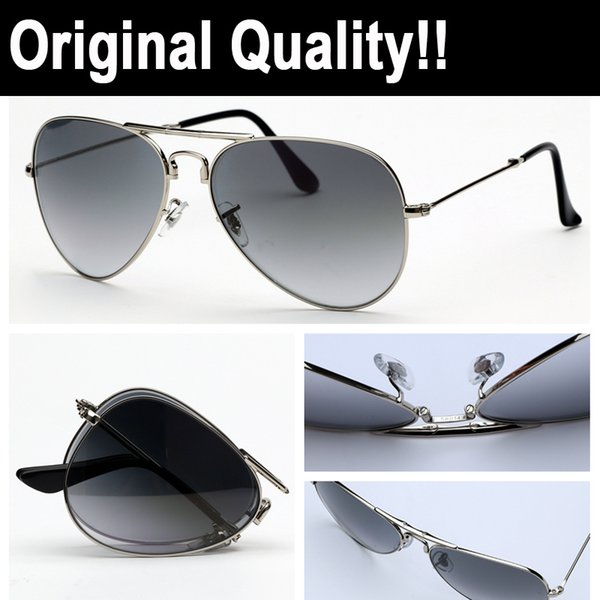 TOP quality brand sunglasses model 3479 folding aviation real vu400 sung glass lenses with original packages and accessories, everything!