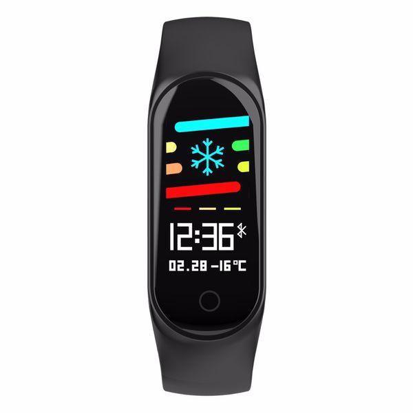 Pantalla a color M3S Fitness Tracker IP67 Reloj impermeable Presión arterial Monitor de ritmo cardíaco Pulsera inteligente Banda de espera 20 días