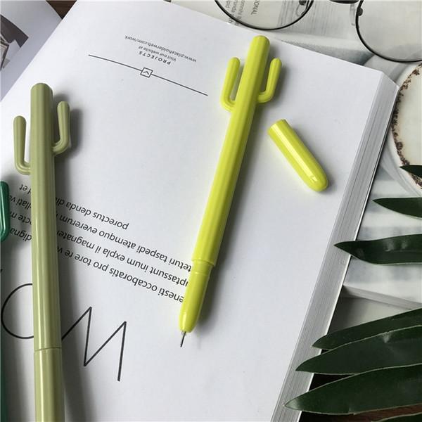 3 Unids / Papelería de dibujos animados lindo cactus styling pen pluma de gel creativo estudiante scuola kawaii plumas WJ-ZXB6