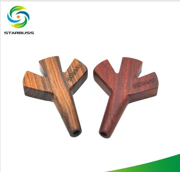 Star buss direct supply for hand-made wooden pipes, solid wood, straight three hole pipe mouthpiece.