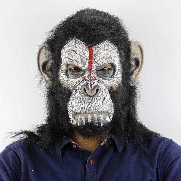 2018 Zombie Masque Orangutan Halloween Noël Atmosphère Horreur Animal Singe Masque Masque De Gorille En Gros Livraison Gratuite # 190g