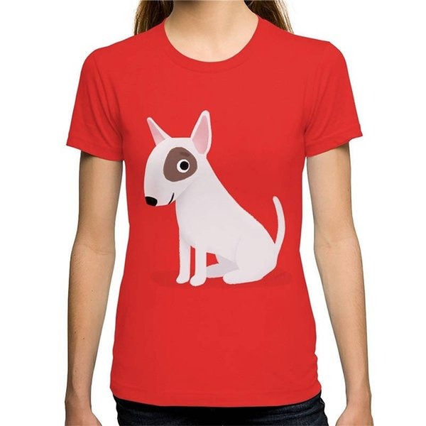 Summer Sleeves Cotton Short Sleeve Women Gift Bull Terrier Crew Neck Shirts