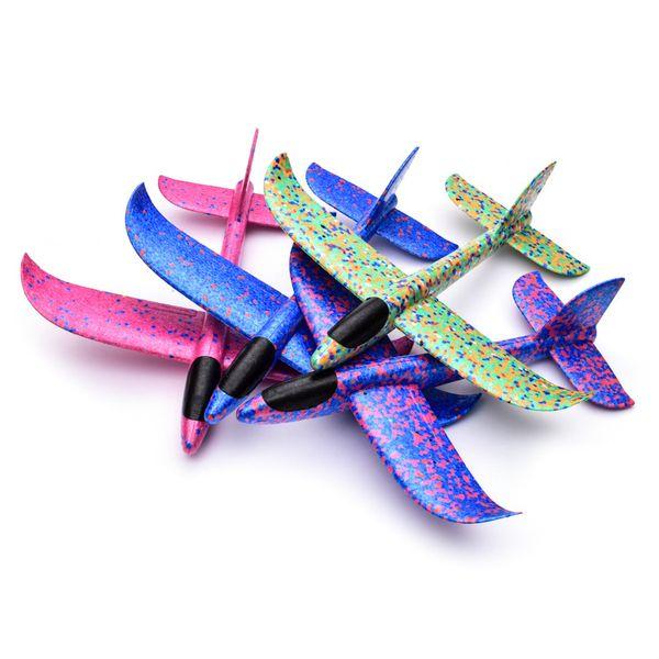 Niños aviones de espuma juguetes lanzados a mano aviones de planeo modelo desmontable plegable modelo de avión para niños juguetes al aire libre regalos 2087