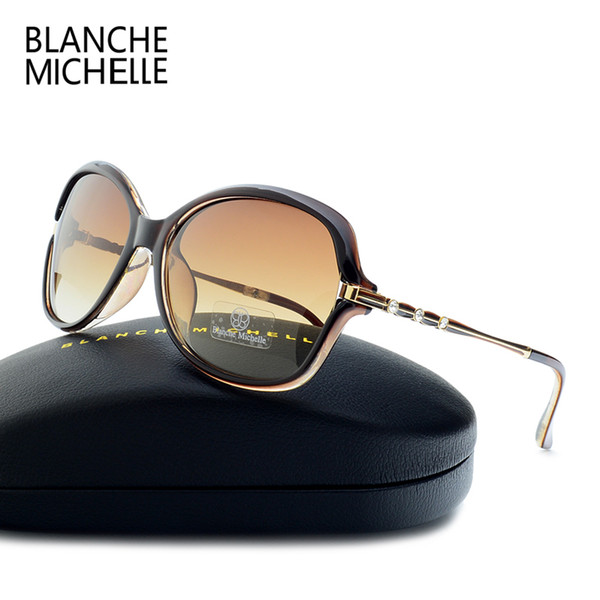 2faf469358 Blanche Michelle 2018 High Quality Rectangle Polarized Sunglasses Women  UV400 Sun Glasses Gradient Sunglass oculos With Box