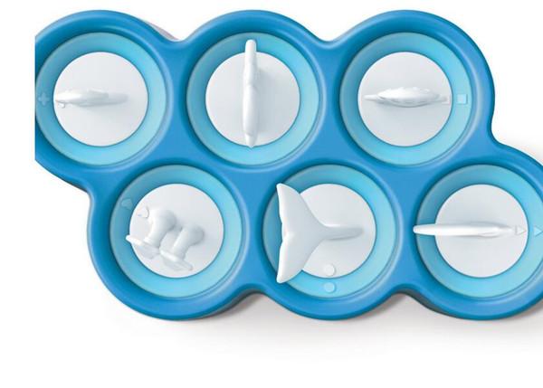 Экологичный пластик 1шт Лето 6 уродливая рыба в форме мороженого Силиконовые палочки Форма для льда Крышка для пресс-формы Diy Мультфильм Держатель для фруктового мороженого