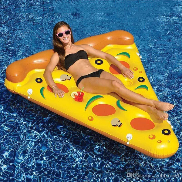 Hot Inflatable Pizza Float 180*145CM ECO-Friendly PVC Floating Pizza Slice Summer Outdoor Swmming Pool Raft Fun Adults Kids Swim Party Toys