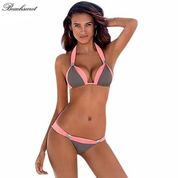 Nuovo costume da bagno Piccoli seni Insieme Ragazza bikini a tre punti