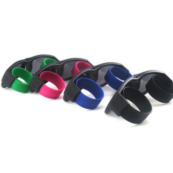 Пощечина солнцезащитные очки поляризованных женщин Slappable браслет солнцезащитные очки для мужчин браслет красочные складные оттенки солнцезащитные очки велоспорт