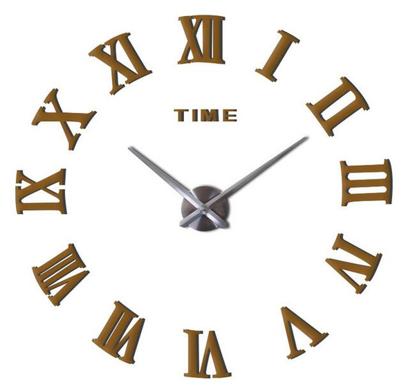 best selling Hot 50pcs Fashion quartz watch home decor limited sale 3d big mirror diy real wall clock modern design room gift