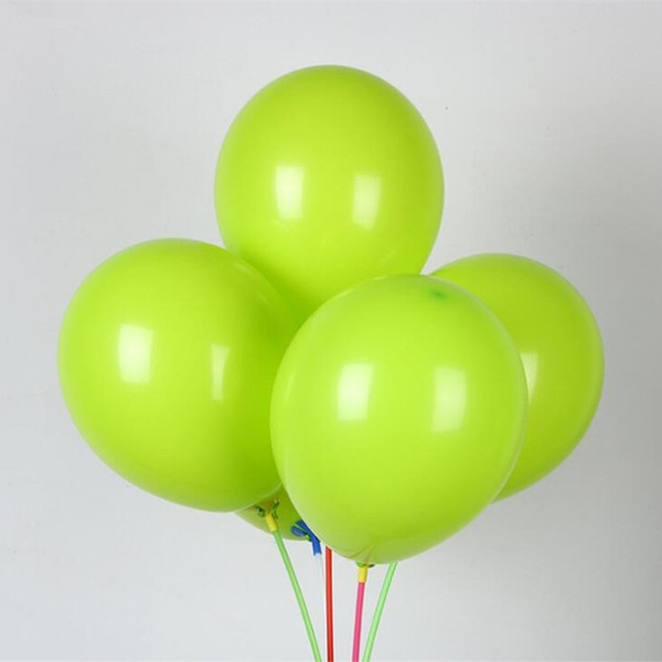 Supply latex baloon 50pcs/lot10 inch thick round fruit green ballons baby birthday party balloons wedding decoration supplies