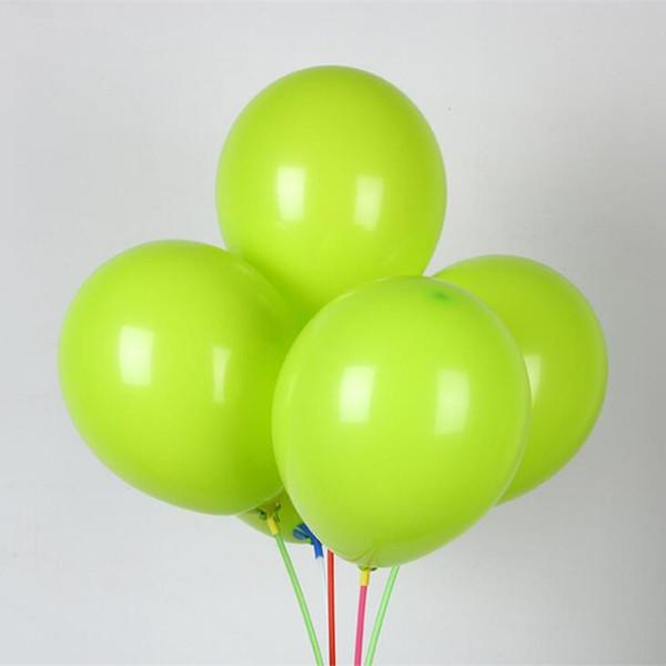 Fournir des ballons en latex 50pcs / lot10 pouces d'épaisseur autour de fruits verts ballons bébé fête d'anniversaire ballons décoration de mariage fournitures