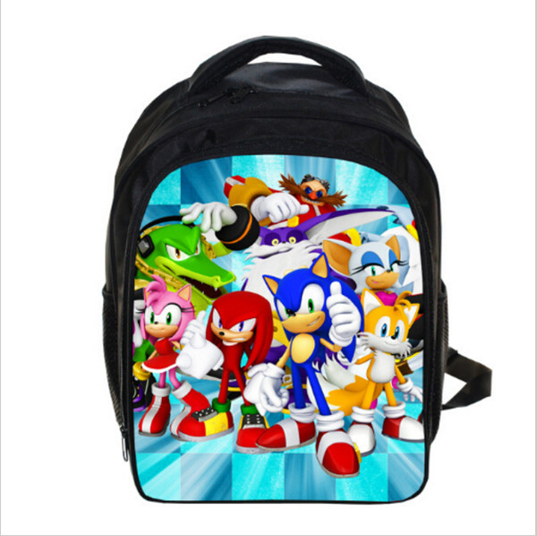 13 Inch Anime Sonic Super Mario Backpack Students School Bags Boys Girls Daily Backpacks Children Bag Kids Best Gift Backpack