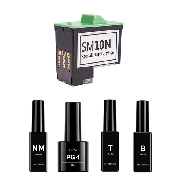 O2 nail nail printer machine pre print oil b t pg4 nm and m 10 pecial inkjet cartridge nail gel et