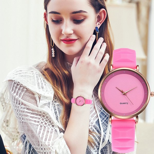 Beautiful Fashion Simple Women Watches Ladies Silicone Strap Wrist Watch For Gift ladies watch relojes para mujer reloj mujer