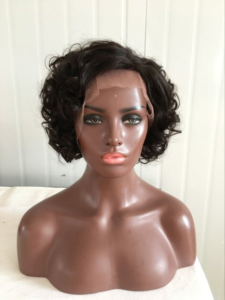 Brazilian Loose Wave Curly Hair Wet and Wavy Human Hair Lace Front Wig Short and Wavy Human Hair Hand Tied Hairline