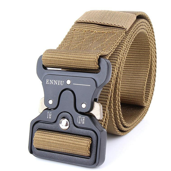 Military Equipment Quick Release Army Belt Men Heavy Duty Combat Tactical Belts Durable Nylon Strap Waist Belt 4.5cm