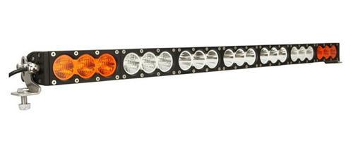 300W 270W llevó la barra de luz de alta potencia de una sola fila de luz antiniebla para OffRoad SUV 4WD Combo blanco ámbar de conducción faro