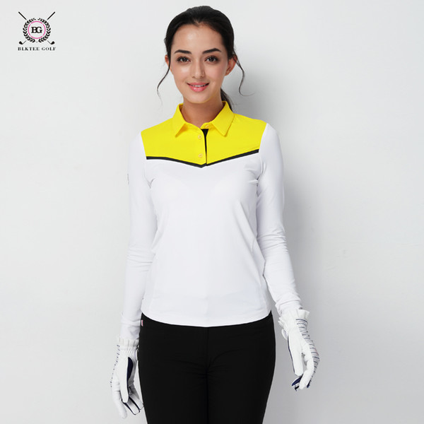 Golf clothing women's long-sleeved T-shirt ladies autumn and winter sports stretch warm slim jersey for women