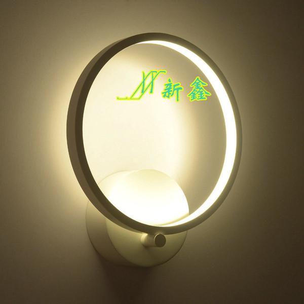 novo LED círculo lâmpada de parede sala de estar da laca que assar o estudo quarto corredor de moda, corredor de escadas