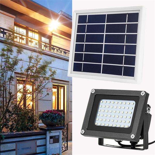 best selling Outdoor Solar Powered Light Control Garden Flood Spotlight Lamp Waterproof IP65 54Leds for Driveway Pathway Villa Hotel