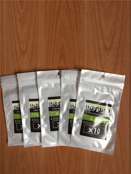 top popular 25 90 120 160 Micron 5x8 cm Rosin Press Filter Screen Mesh Tea Bags - 10 sheets 2021