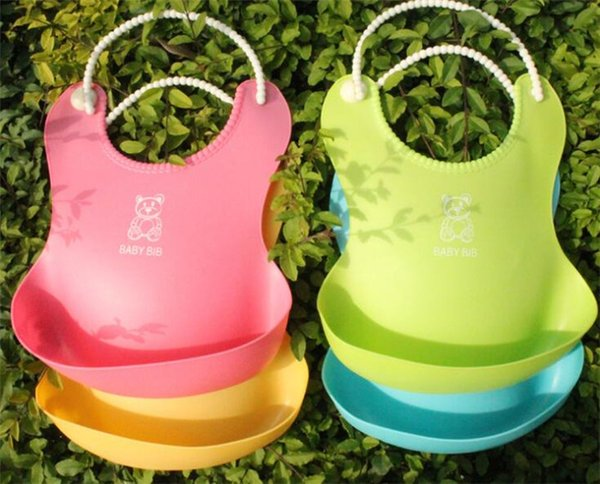 50pcs Baby Infants Kids Cute Bibs Lunch Bibs Newborn Children Waterproof Towel Washable Feeding Silicone Burp Y273