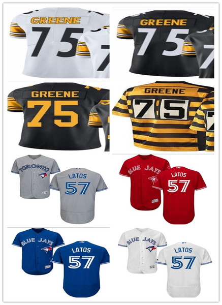huge selection of 66071 e4157 2018 2018 Can Custom Elite Legend Pittsburgh 75 Joe Greene Best  Men/Women/Youth Toronto Blue Jays 57 Mat Latos Baseball Jersey From  Toptop_jersey03, ...
