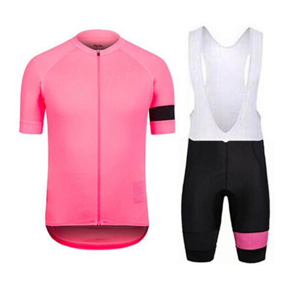 RAPHA team Cycling Short Sleeves jersey bib shorts sets 2019 Men 100% Polyester Quick-Dry Bike Bicycle Sportswear U40841