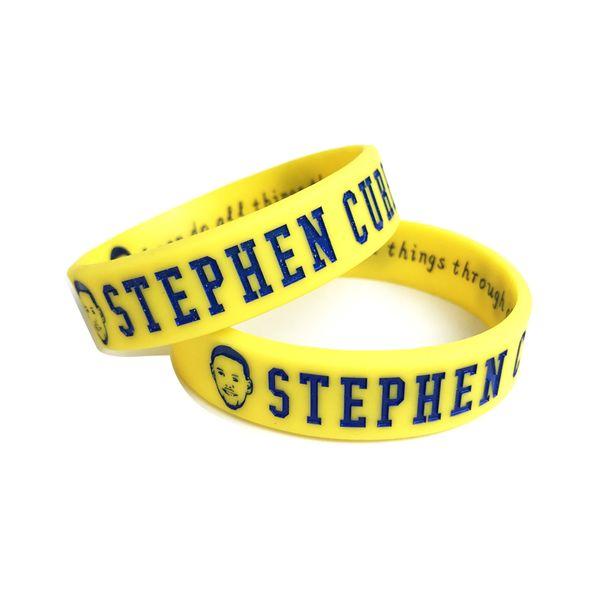2018 Men's Silicone Basketball Bracelets Stephen Curry Sport Energy Balance Wristband