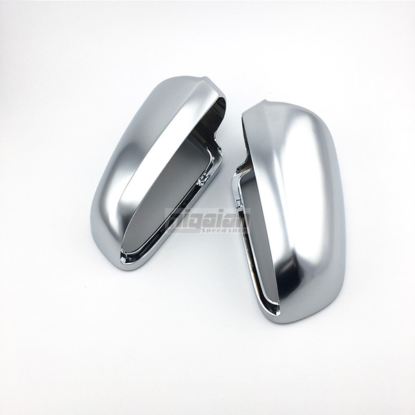 B7 Silver Mirror Caps for Audi A3 8P A4 B7 A6 C5 ABS Matt Chrome Car Side Mirror Covers