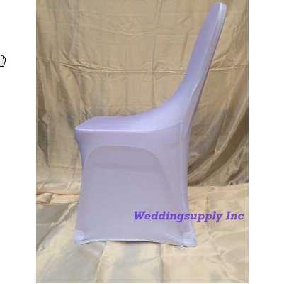 Acheter 100 Blanc Lycra Housse De Chaise Pour Mariage Banquet Chaise Tissu Livraison Gratuite Spandex Polyester Couverture Avec Arch Pas Cher De