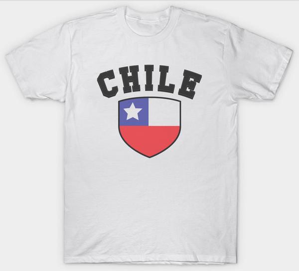 CHILE DRAPEAU T-SHIRT TOP AMÉRIQUE DU SUD funny t-shirt en coton harajuku été 2018