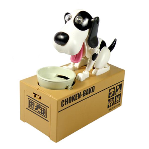 Décoration du foyer Boîtes 1pc Robotic Dog Money Saving Money Bank Box automatique Stole Monnaie Tirelire Tirelire Toy Cadeaux pour les enfants