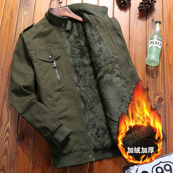 Men Winter Dress Thicken Style Wool Liner Warm Jackets and Coats Man 126