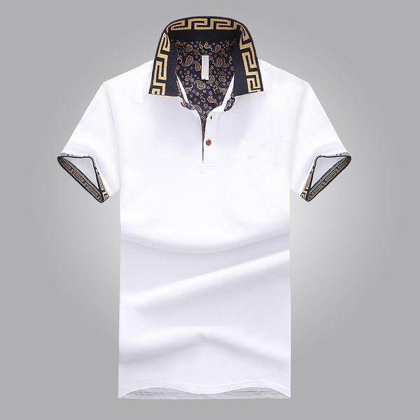 top popular Hot Sales Shirt Luxury Design Male Summer Turn-Down Collar Short Sleeves Cotton Shirt Men Top 2019