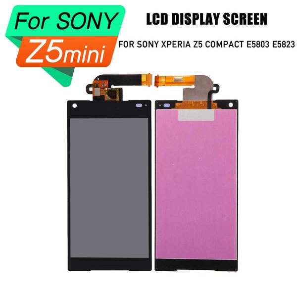 PrepairP lcd digitizer screen for Sony Xperia Z5 MINI Compact E5803 E5823 lcd screen touch screen assembly for sony xperia z5 compact