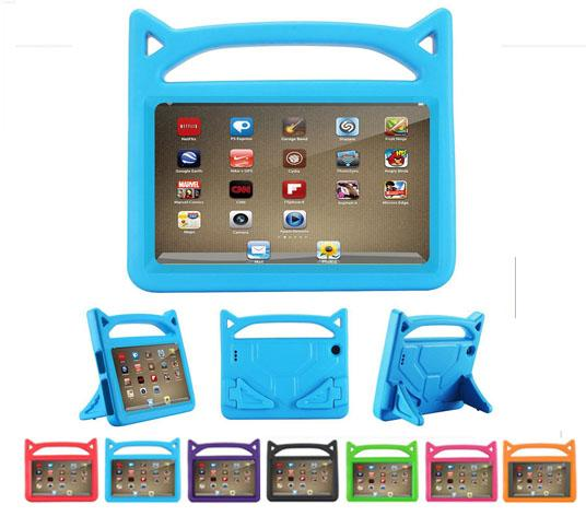 Kids Handle EVA Foam Shock Proof Kid-Proof Tablet Cover for iPad Mini 123/4 Air 5/6 New ipad 2017/2018 Kindle Fire 7 Cute Devil
