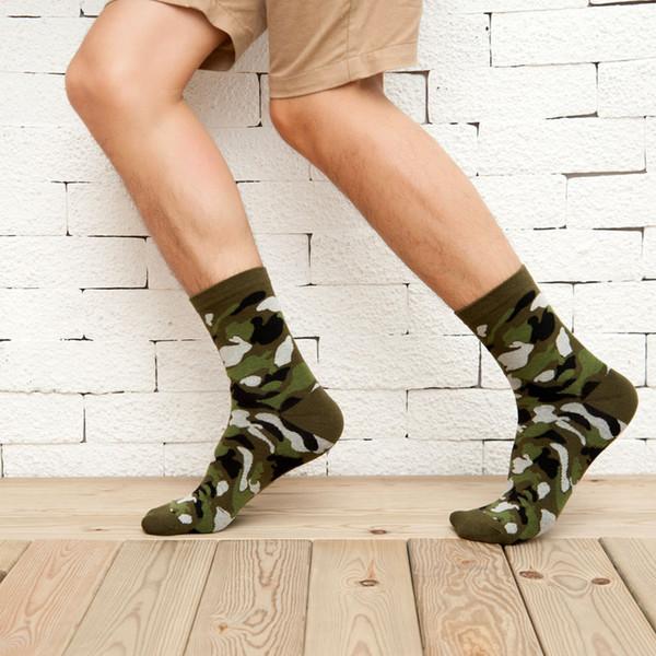 5 Paar hochwertige Baumwolle Herren-Camouflage-Gentleman-Socken Harajuku in der Tube Happy Herren Socken Casual Mode