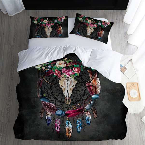 Luxury Hotel Grade Leaf Floral Embroidery 180 Thread White Quilt Duvet Cover Set