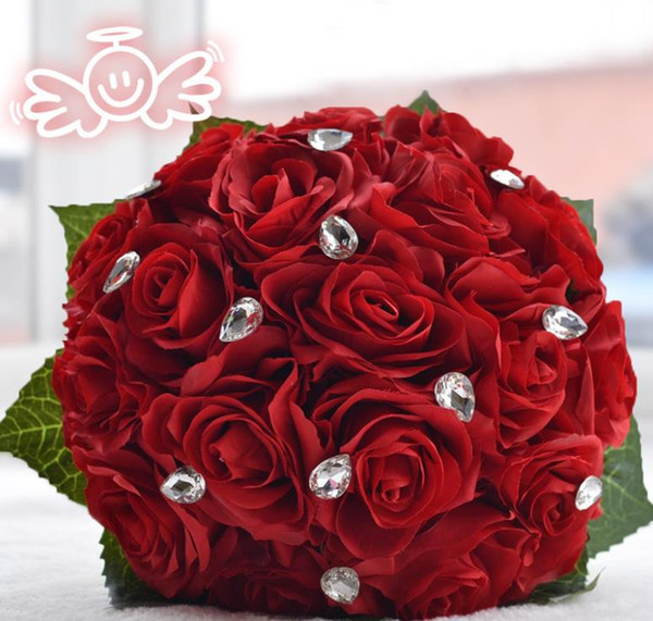 Eternal angel rose simulation flower bride holding flower wholesale holiday products Christmas gift