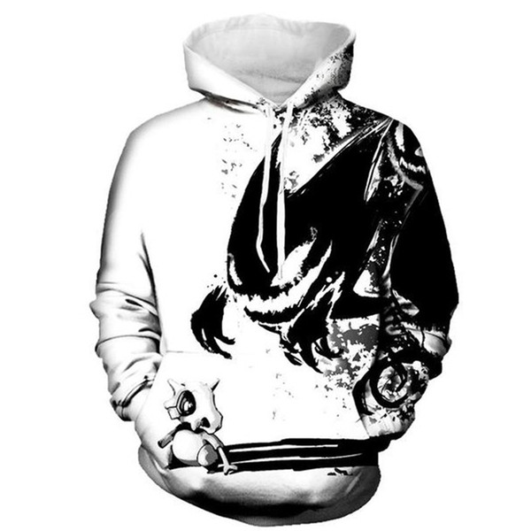 Gothic Anime Hoodie Men Casual Sweatshirt Hip Hop Hooded Punk Rock Men Tracksuit 3D Master Printed Streetwear Boys Sportswear