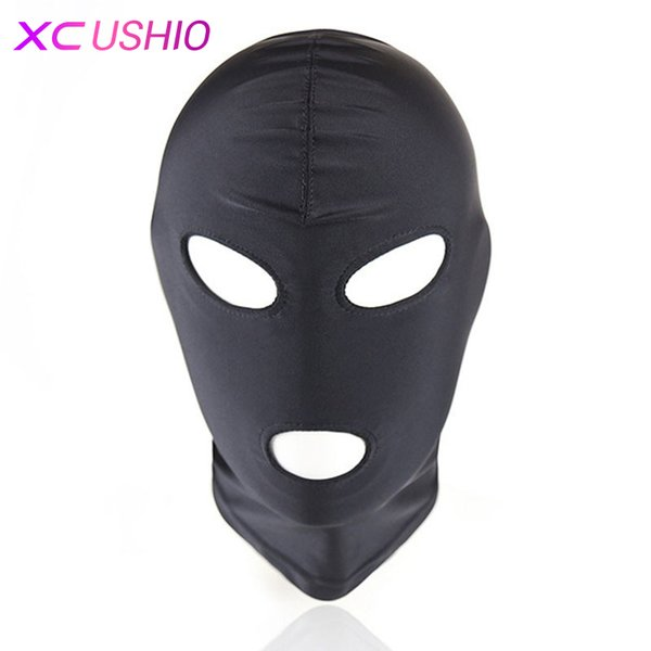 Lightweight Elastic Spandex Sex Mask Head Hood Fetish Headgear Harness Bondage Cosplay Party Mask Adult Game Sex Toys for Couple S926