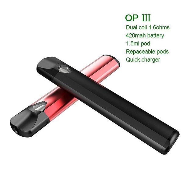 горячий продавать одноразовые Vape pen starter kits с 420 мАч 1.5 мл воск испаритель pen Vape картриджи VAPESOUL OP3 vapor mod e сигареты