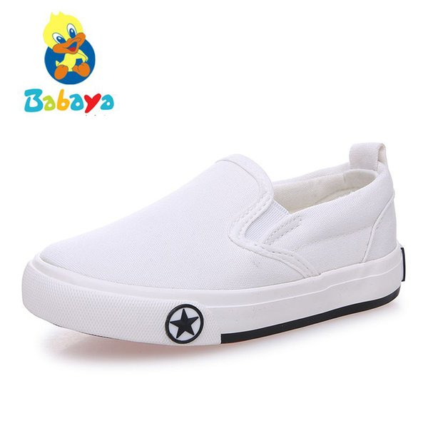 Kids shoes for girl children canvas shoes boys 2017 New spring autumn Girls shoes fashion solid color pedal kids sneakers