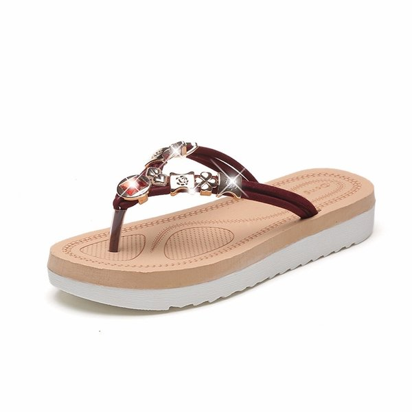 sandals and slippers 2 sandals flat flat with rhinestone clip toe sandals