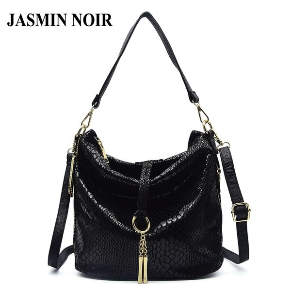 New Fashion Snake Pattern Pu Leather Handbag Tassel Bag Crossbody Bags for Women Zipper Designer Hobos Shoulder Bags Tote Bag